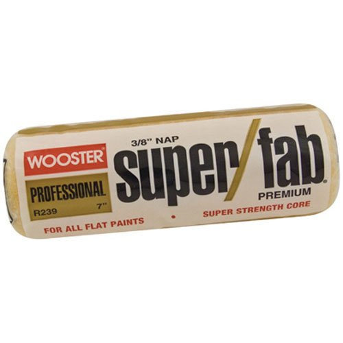 Wooster Brush R239-7 Super/Fab Roller Cover, 3/8-Inch Nap, 7-Inch