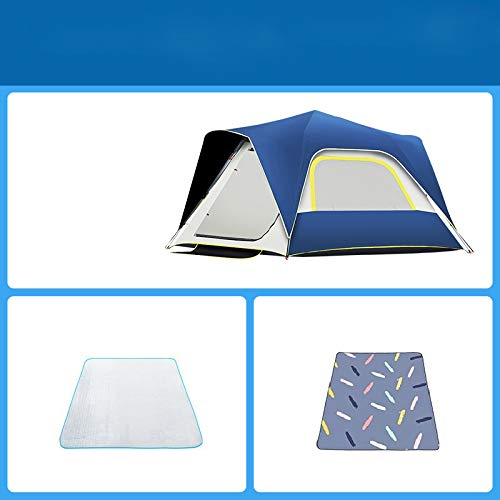 Ziyi Blow Up Tent,camping Tent,Outdoor Automatic Quick-opening Tent Is Waterproof,double-layer Black Rubber Fabric,independent External,sun Protection And UV Resistance