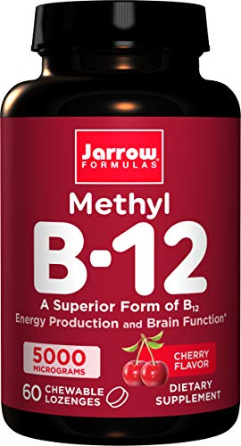 Jarrow Formulas Methylcobalamin (Methyl B12), Supports Brain Cells, 5000 mcg, 60 Lozenges