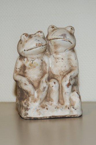 Deko Außen Garten Teich Frosch Figur aus Keramik, wetterfest, ca, 20 cm hoch
