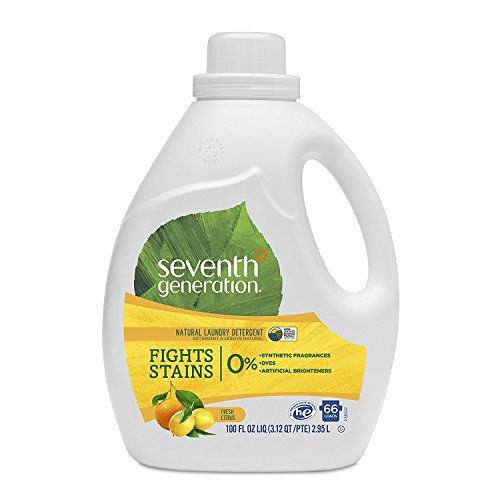 Seventh Generation Liquid Laundry Detergent, Fresh Citrus scent, 100 oz, 66 Loads (Packaging May Vary)