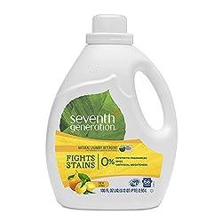 Seventh Generation Liquid Laundry Detergent, Fresh Citrus scent, 100 oz, 66 Loads (Packaging May Var