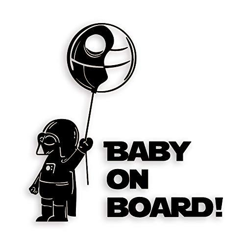 FengHuiCar Baby in Auto-Aufkleber-Abziehbilder Sicherheitszeichen Baby on Board für Autos Wasserdicht Glänzend Reflective Material (15 * 15 cm)