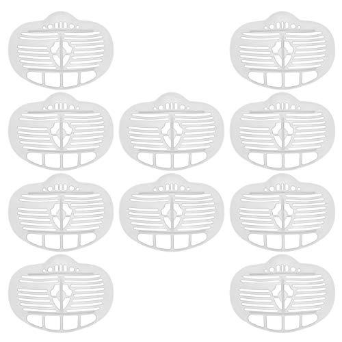 MILISTEN 10Pcs Support de Couverture de Bouche 3D Visage Cadre de Support Intérieur en Plastique Support de Support de Couverture de Bouche pour Enfants Adultes Respiration Confortable