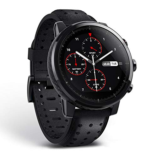 Amazfit Stratos 2s Smartwatch Premium Multisport mit GPS, wasserdicht, Fitness-Aktivitätstracker, Herzfrequenz Schrittzähler für iOS und Android-Gerät