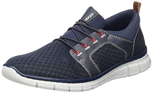 Rieker Herren B7786 Sneaker, Blau, 44 EU