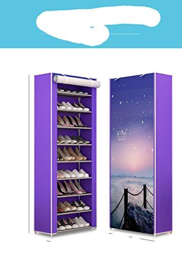 Zapatero de m¨²ltiples capas, tela no tejida, ahorro de espacio, zapato O, zapato de montaje moderno para muebles del hogar, marr¨n