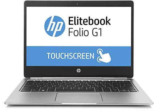 HP Elitebook folio G1 Z2U98ES (12.5 inch UHD touch display) laptop (Intel core m76Y75vpro, 512GB SSD, 8GB RAM, Windows 10) silver (Renewed)