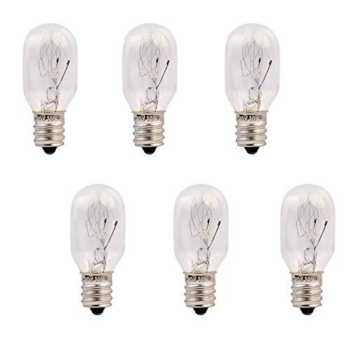 15 Watt Himalayan Salt Lamp Bulbs 6 Pack E12 Socket Incandescent Bulbs, Unilamp Original Salt Lamp Replacement Long Lasting Light Bulbs (15 Watt-6 Pack)