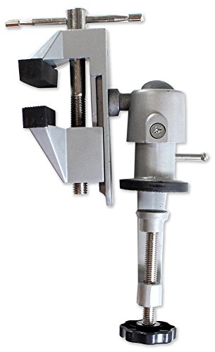 """Swivel Head 3"""" Vise With Rubber Jaws And Padded Clamp Edges To Avoid Scratching (BENCH WIZARD: VISE-13060)"""