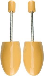 1 paio di fermagli per scarpe, in plastica, per albero delle scarpe, regolabili, con corno di scarpe, Giallo (Jaune(36-3...