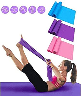 Mabufun Exercise Bands for Physical Therapy Resistance Bands Set 1.5 Meter Premium Quality Fitness Bands for Pilates, Yoga, Strength Training Workout Bands for Home 3 Pack