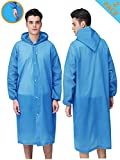 "HLK.Sports Rain Coats, [2 Pack] EVA Reusable Rain Coat Jacket with Hood, Size 59"" by 27.5"""