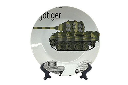 Assiettes Rétro Motif Réservoir Tiger imprimées céramique