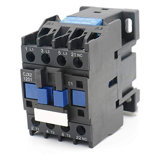 Contactor de corriente alterna CJX2-1201 110V 50/60 Hz 3 polos normalmente cerrados