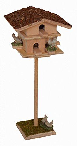 CV Tauben-Schlag Tauben-Haus mit 7 Tauben für Krippe Weihnachts-Krippe Krippen-Zubehör