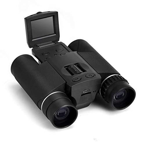 WYLOKEN TF-verrekijker telescoop 12 x 32 digitale weergave, binoculaire camcorder Micro SD zwart