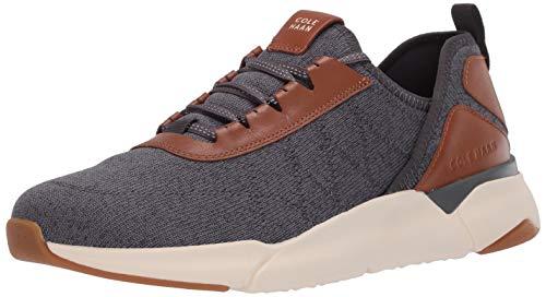 Cole Haan mens Sneaker, Gray Pinstripe/Optic White, 12 US