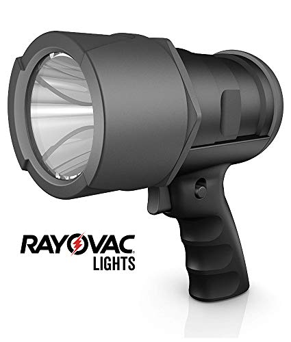 RAYOVAC Virtually Indestructible LED Spotlight, IP67 Waterproof, Super Bright 750 Lumens, Massive Beam Distance, 6 AA Batteries Included