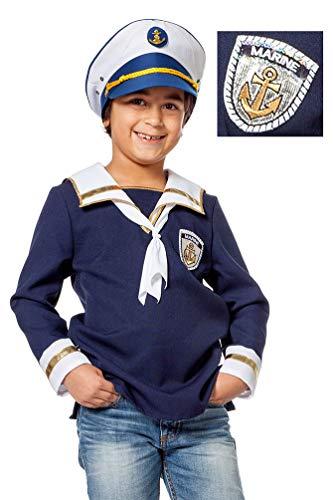 Karneval-Klamotten Matrosen Kostüm Kinder Matrosen Hemd Jungen