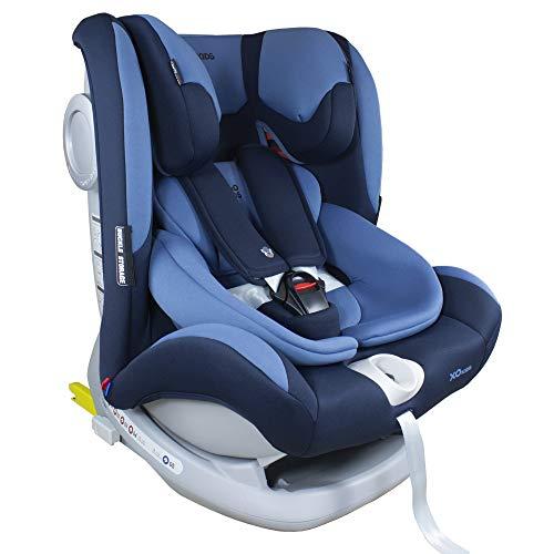XOMAX S66 Kindersitz mit ISOFIX und Liegefunktion I mitwachsend I 0-36 kg, 0-12 Jahre, Gruppe 0/1/2/3 I 5-Punkt-Gurt und 3-Punkt-Gurt I Bezug abnehmbar, waschbar I ECE R44/04
