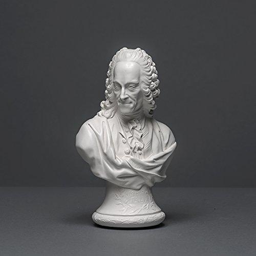 Voltaire - Escultura de celana (18 cm, hecha a mano en Alemania), color blanco
