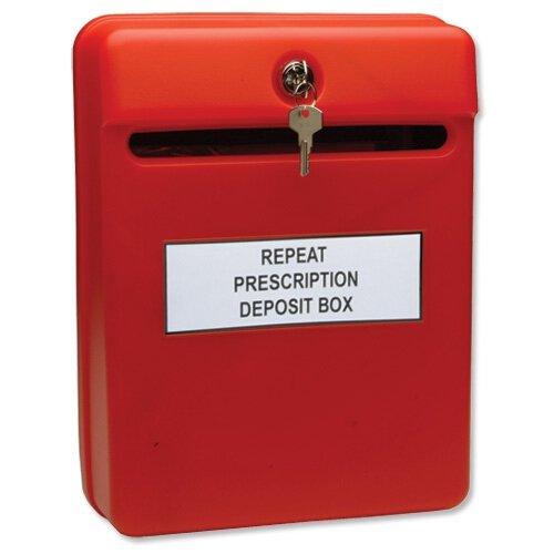 Helix Vorschlagsbox / interner Briefkasten, rot