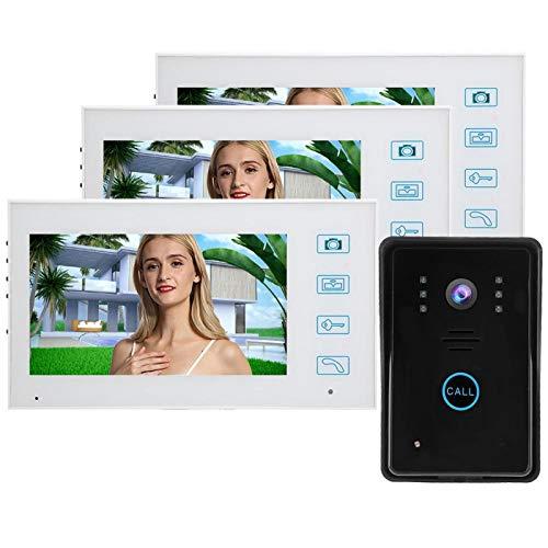 Cerlingwee Teléfono de Puerta inalámbrico 2.4G, teléfono de Puerta con visión Nocturna por Infrarrojos, Resistente al Agua(European regulations)