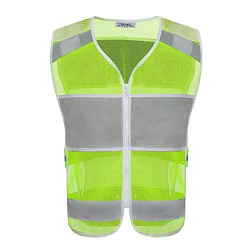 FYJVEST Reflektierende Sicherheitsweste - Warnschutzweste Engineering Site Mehrfach-Arbeitskleidung Reflektierende Sicherheitsweste