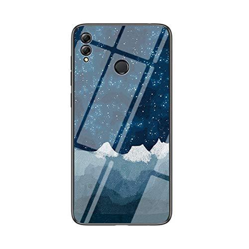 IVY Vidro Temperado Céu Estrelado Capa Case para Huawei Honor 8X Max Case - E