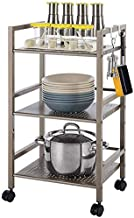 Home Living Museum/Stainless Steel Kitchen Rack Floor Multi Layer Microwave Oven Rack Storage Rack Space Domestic Househol...