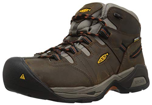 KEEN Utility Men's Detroit XT Mid Soft Toe Waterproof Work Boot,Black Olive/Leather Brown,11 Medium US