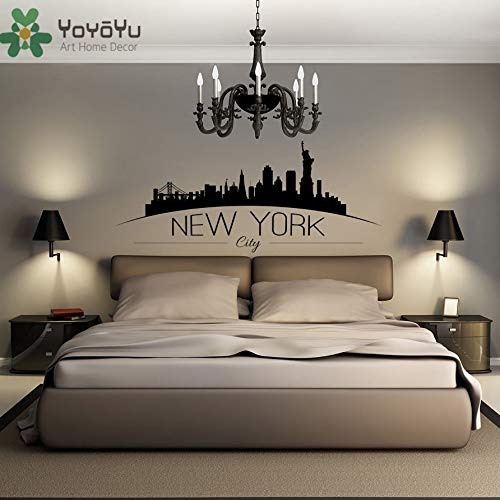 Wall Decal Vinyl Art Wall Sticker Rootssses Home Decoration Wall Paper Art New York City DIY Removeable Mural 42X99cm