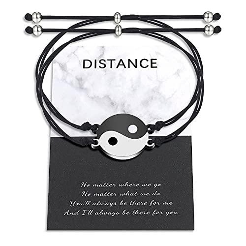 Yin Yang Armband für Pärchen Beste Freundin Freundschaft Bff Passend Armbänder für 2 Distanz Beziehungs Schmuck Geschenke für Paare Freund Freundin Sein Ihr Damen Männer Jungen Mädchen