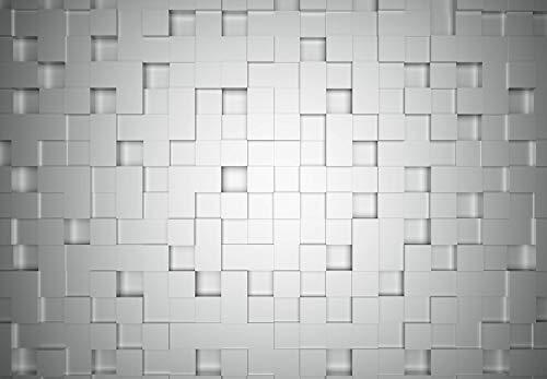 Fototapete Cubes Papiertapete 3D in weiß grau 366 x 254 cm XXL Wandtapete Wandbild 118873