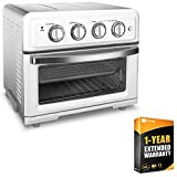 Cuisinart TOA-60W Convection Toaster Oven Air Fryer with Light White Bundle wtih 1 Year Extended Warranty