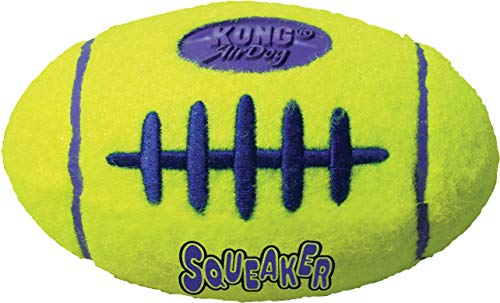 KONG – AirDog Football – Federndes Apportierspielzeug aus Tennisballmaterial – Für Große Hunde