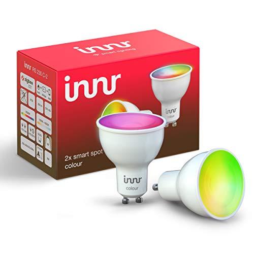 Innr GU10 Smart LED Spot Color, works with Philips Hue*, Alexa, Google Home, SmartThings (Bridge erforderlich) dimmbar, bis zu 16 Millionen Farben, RS 230C-2