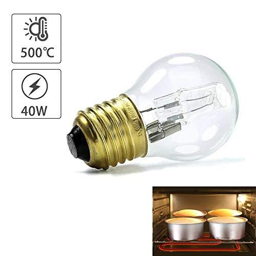 knowledgi Piccola Vite per Lampada da Forno, E27, 40 W, Resistente alle Temperature Fino A 500°C, Adatta al Forno E al Microonde