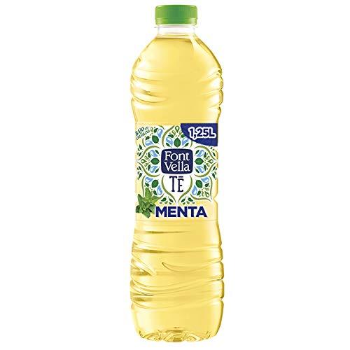 Font Vella Té, Agua Mineral y extracto de té verde sabor menta - Botella 1,25L