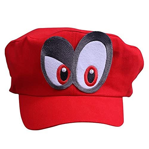 Chapeau Super Mario Odyssey - Costume pour Adultes et Enfants - Parfait pour Le Carnaval et Le Cosplay - Yeux Droite
