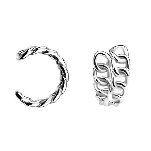 SOFIA MILANI - Damen Ohrringe 925 Silber - Fake Piercing Manschette Ohr - 20747