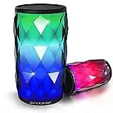 Bluetooth Lautsprecher,LED Touch Control Farbenfroher Tragbares Nachtlicht Bluetooth...