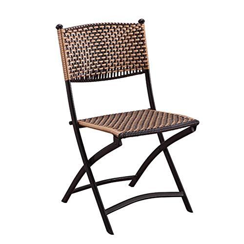 NECZXW1 Klappstühle, tragbarer Rattanstuhl mit Wicker-Rückenlehne im Freien, umweltfreundlich und langlebig, geruchsneutral, Komfortables ergonomisches Design, sicher und rutschfest