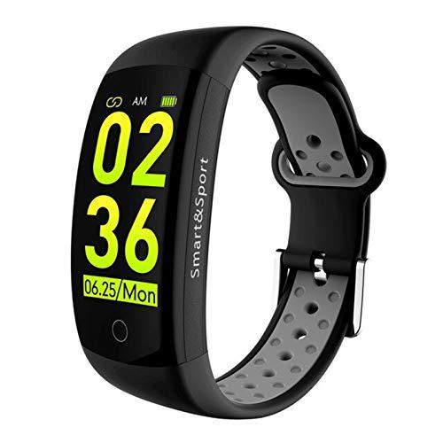 XYZK Q6s Pulsera Inteligente Presión Arterial Monitor De Frecuencia Cardíaca Monitor De Banda Inteligente Pulsera Impermeable Deportes Fitness Color 3D Dynamic Watch Band,B