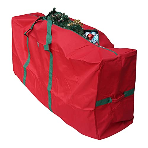 K-Cliffs Christmas Tree Storage Bag Heavy Duty X'Mas Holiday Decoration Fits 9 ft Artificial Trees Durable Quality 65' x 30' x 15' Red