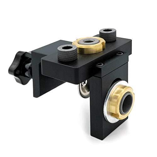 YWSZJ 3 en 1 Jig Doweling Ajustable Jig Orificio de Bolsillo Jig con Broca de 8/15 mm para guía de perforación Localizador de Herramientas Puncher
