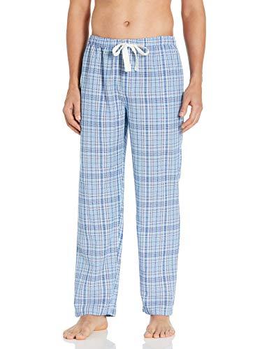Jockey Herren Sleep Pant Pyjamahose, Blue/White/Navy Plaid, Large