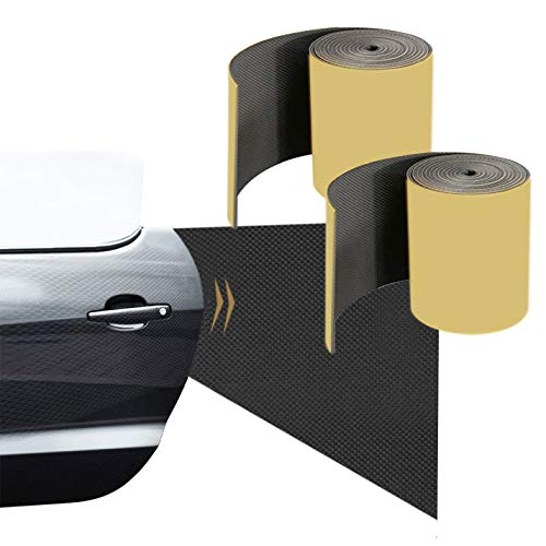 Fuutuu Protectores Puerta de Coche Banda Paragolpes de Pared Adhesiva 4mm para Muro de Garaje Extragrueso Parachoques Autoadherente Impermeable para Protector Pared Espuma EVA 2 PCS