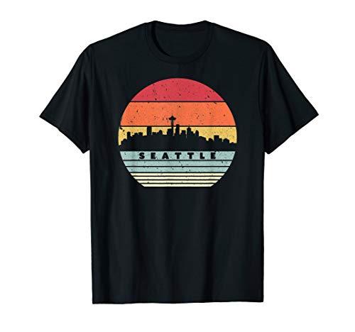 Seattle Souvenir Shirt. Retro Style USA Skyline T-Shirt